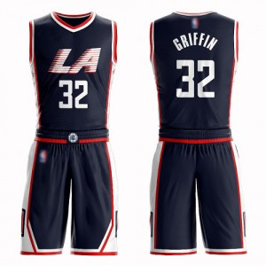 Swingman Women's Blake Griffin Navy Blue Jersey - #32 Basketball Los Angeles Clippers Suit City Edition