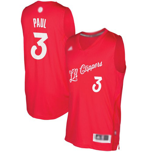 Authentic Men S Chris Paul Red Jersey 3 Basketball Los Angeles Clippers 2016 2017 Christmas Day