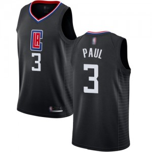 Authentic Women's Chris Paul Black Jersey - #3 Basketball Los Angeles Clippers Statement Edition