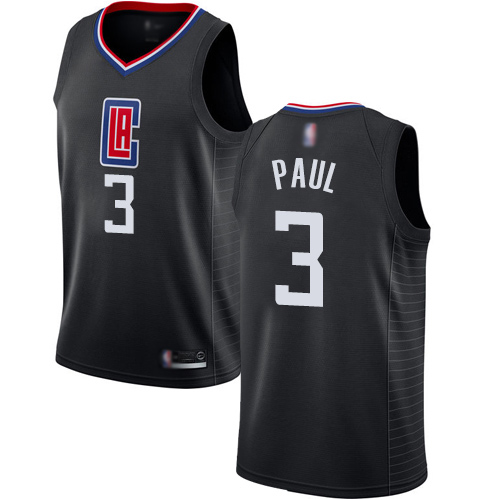 Swingman Women's Chris Paul Black Jersey - #3 Basketball Los Angeles Clippers Statement Edition