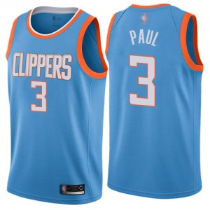 Swingman Women's Chris Paul Blue Jersey - #3 Basketball Los Angeles Clippers City Edition