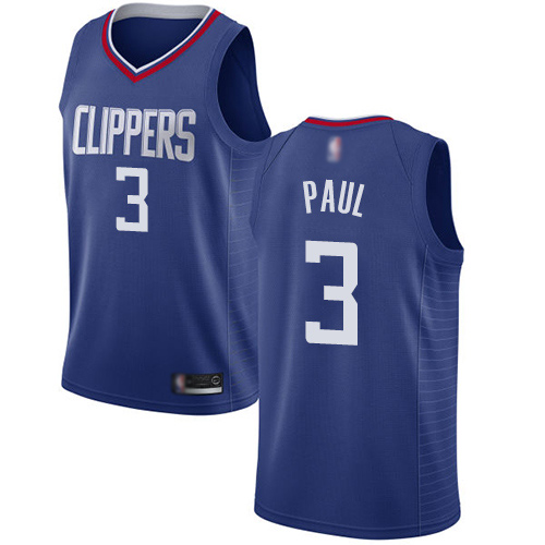 Swingman Women's Chris Paul Blue Jersey - #3 Basketball Los Angeles Clippers Icon Edition
