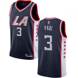 Swingman Women's Chris Paul Navy Blue Jersey - #3 Basketball Los Angeles Clippers City Edition