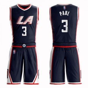 Swingman Women's Chris Paul Navy Blue Jersey - #3 Basketball Los Angeles Clippers Suit City Edition