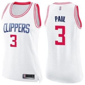 Swingman Women's Chris Paul White/Pink Jersey - #3 Basketball Los Angeles Clippers Fashion