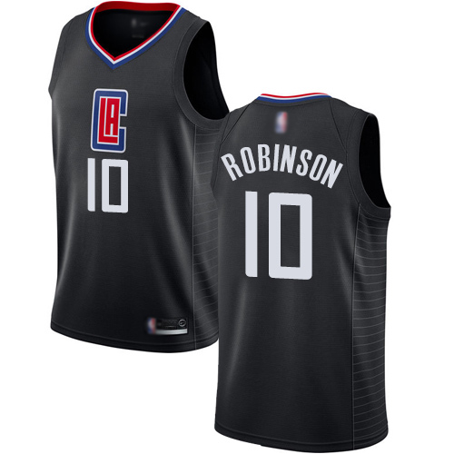 Authentic Women's Jerome Robinson Black Jersey - #10 Basketball Los Angeles Clippers Statement Edition