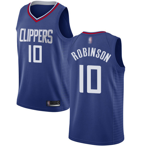 Swingman Women's Jerome Robinson Blue Jersey - #10 Basketball Los Angeles Clippers Icon Edition