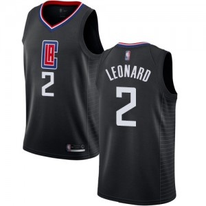 Authentic Women's Kawhi Leonard Black Jersey - #2 Basketball Los Angeles Clippers Statement Edition