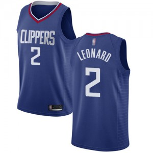 Authentic Women's Kawhi Leonard Blue Jersey - #2 Basketball Los Angeles Clippers Icon Edition