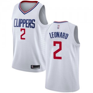 Authentic Women's Kawhi Leonard White Jersey - #2 Basketball Los Angeles Clippers Association Edition