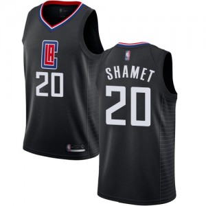 Authentic Women's Landry Shamet Black Jersey - #20 Basketball Los Angeles Clippers Statement Edition