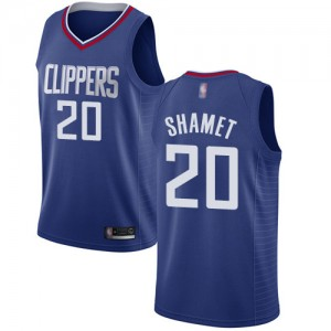 Authentic Women's Landry Shamet Blue Jersey - #20 Basketball Los Angeles Clippers Icon Edition