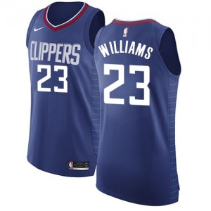 Authentic Women's Louis Williams Blue Jersey - #23 Basketball Los Angeles Clippers Icon Edition