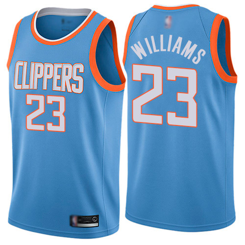 Swingman Men's Louis Williams Blue Jersey - #23 Basketball Los Angeles Clippers City Edition