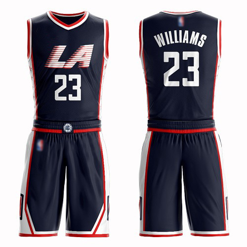Swingman Men's Louis Williams Navy Blue Jersey - #23 Basketball Los Angeles Clippers Suit City Edition