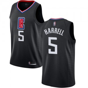 Authentic Women's Montrezl Harrell Black Jersey - #5 Basketball Los Angeles Clippers Statement Edition