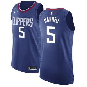 Authentic Women's Montrezl Harrell Blue Jersey - #5 Basketball Los Angeles Clippers Icon Edition