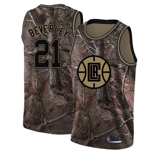 Swingman Women's Patrick Beverley Camo Jersey - #21 Basketball Los Angeles Clippers Realtree Collection