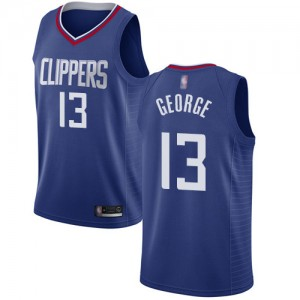 Authentic Women's Paul George Blue Jersey - #13 Basketball Los Angeles Clippers Icon Edition