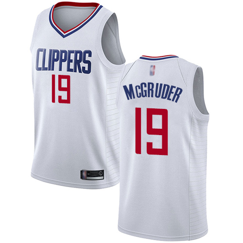 Authentic Women's Rodney McGruder White Jersey - #19 Basketball Los Angeles Clippers Association Edition