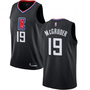 Swingman Men's Rodney McGruder Black Jersey - #19 Basketball Los Angeles Clippers Statement Edition