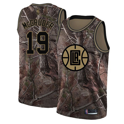 Swingman Men's Rodney McGruder Camo Jersey - #19 Basketball Los Angeles Clippers Realtree Collection