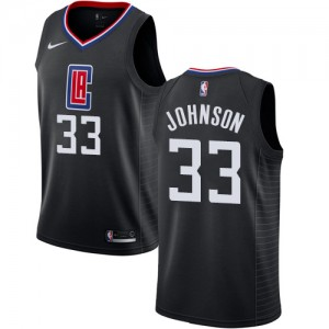 Swingman Men's Wesley Johnson Black Jersey - #33 Basketball Los Angeles Clippers Statement Edition