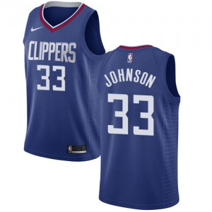 Swingman Men's Wesley Johnson Blue Jersey - #33 Basketball Los Angeles Clippers Icon Edition