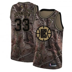 Swingman Men's Wesley Johnson Camo Jersey - #33 Basketball Los Angeles Clippers Realtree Collection