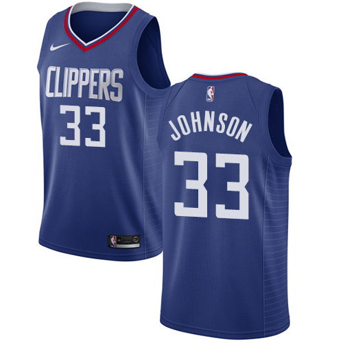 Swingman Women's Wesley Johnson Blue Jersey - #33 Basketball Los Angeles Clippers Icon Edition