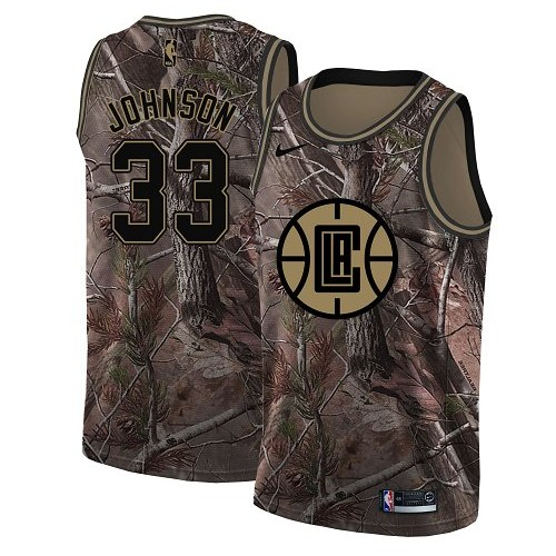 Swingman Women's Wesley Johnson Camo Jersey - #33 Basketball Los Angeles Clippers Realtree Collection